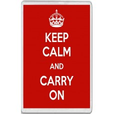 Keep Calm and Carry On - Red Background