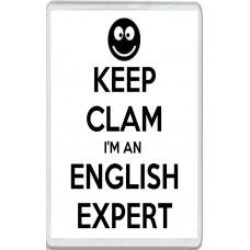Keep Clam I'm an English Expert