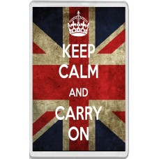 Keep Calm and Carry On - Union Jack Background - Jumbo Fridge Magnet