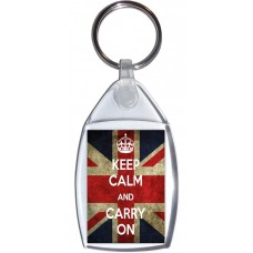 Keep Calm and Carry On - Keyring