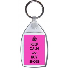 Keep Calm and Buy Shoes - Keyring