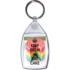 Keep Calm and Eat Cake - Keyring