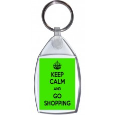 Keep Calm and Go Shopping - Keyring