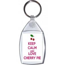 Keep Calm and Love Cherry Pie - Keyring
