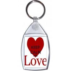 Keep Calm and Love - Keyring
