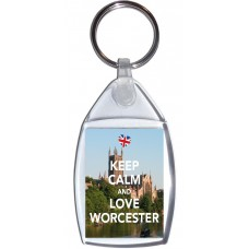 Keep Calm and Love Worcester - Keyring