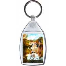 Keep Calm and Love Horses - Keyring