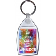 Keep Calm And Love Wimbledon - Keyring