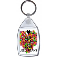 Keep Calm and Love Jelly Beans - Keyring