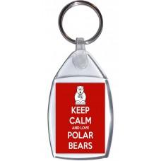 Keep Calm and Love Polar Bears - Keyring
