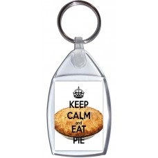 Keep Calm and Eat Pie - Keyring