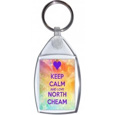 Keep Calm and Love North Cheam - Keyring
