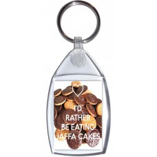I'd Rather be Eating Jaffa Cakes - Keyring