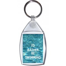 I'd Rather be Swimming - Keyring