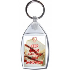 Keep Calm and Love a Jam Sandwich - Keyring