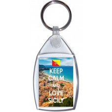 Keep Calm and Love Sicily - Keyring