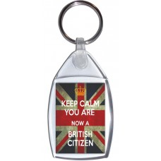 Keep Calm You are Now a British Citizen - Keyring