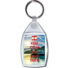 Keep Calm and Love Tahiti - Keyring