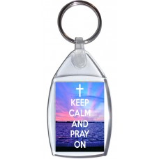 Keep Calm and Pray On - Keyring