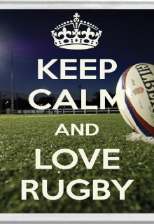Keep Calm and Love Rugby - Jumbo Coaster